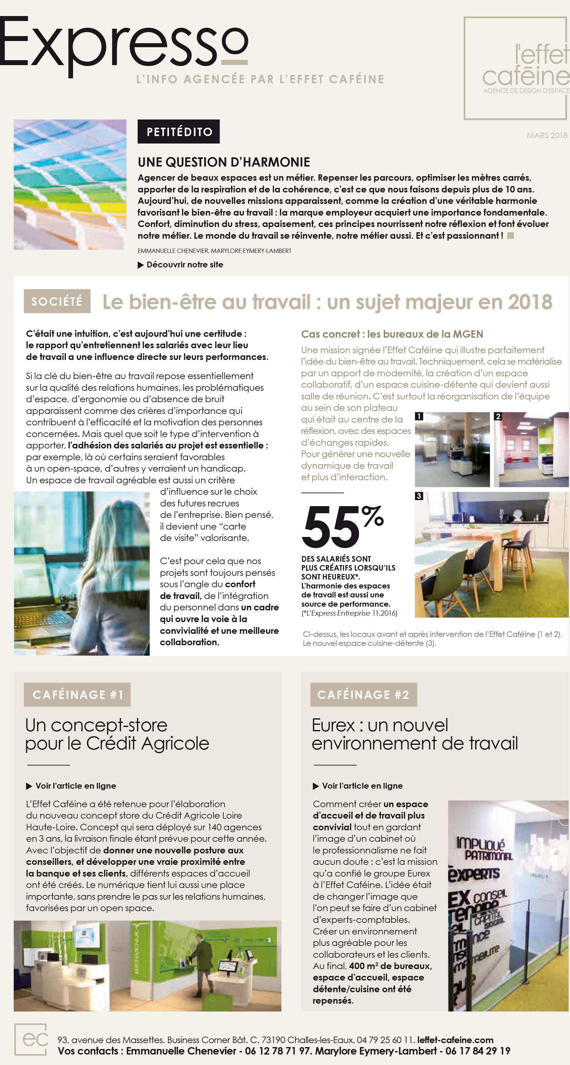 Edito magazine expresso mars 2018
