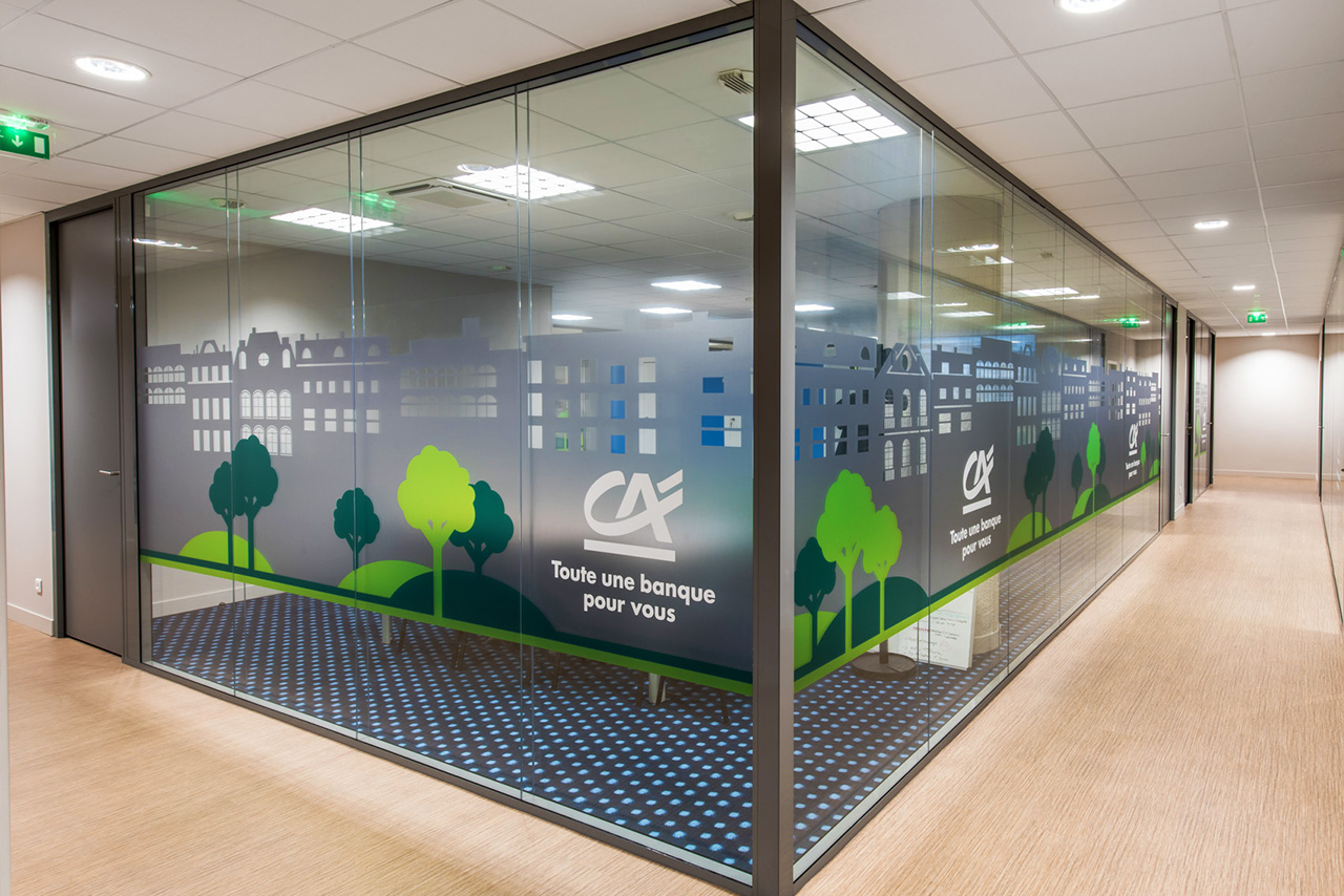Amenagement harmonisation concept store agence credit agricole 1