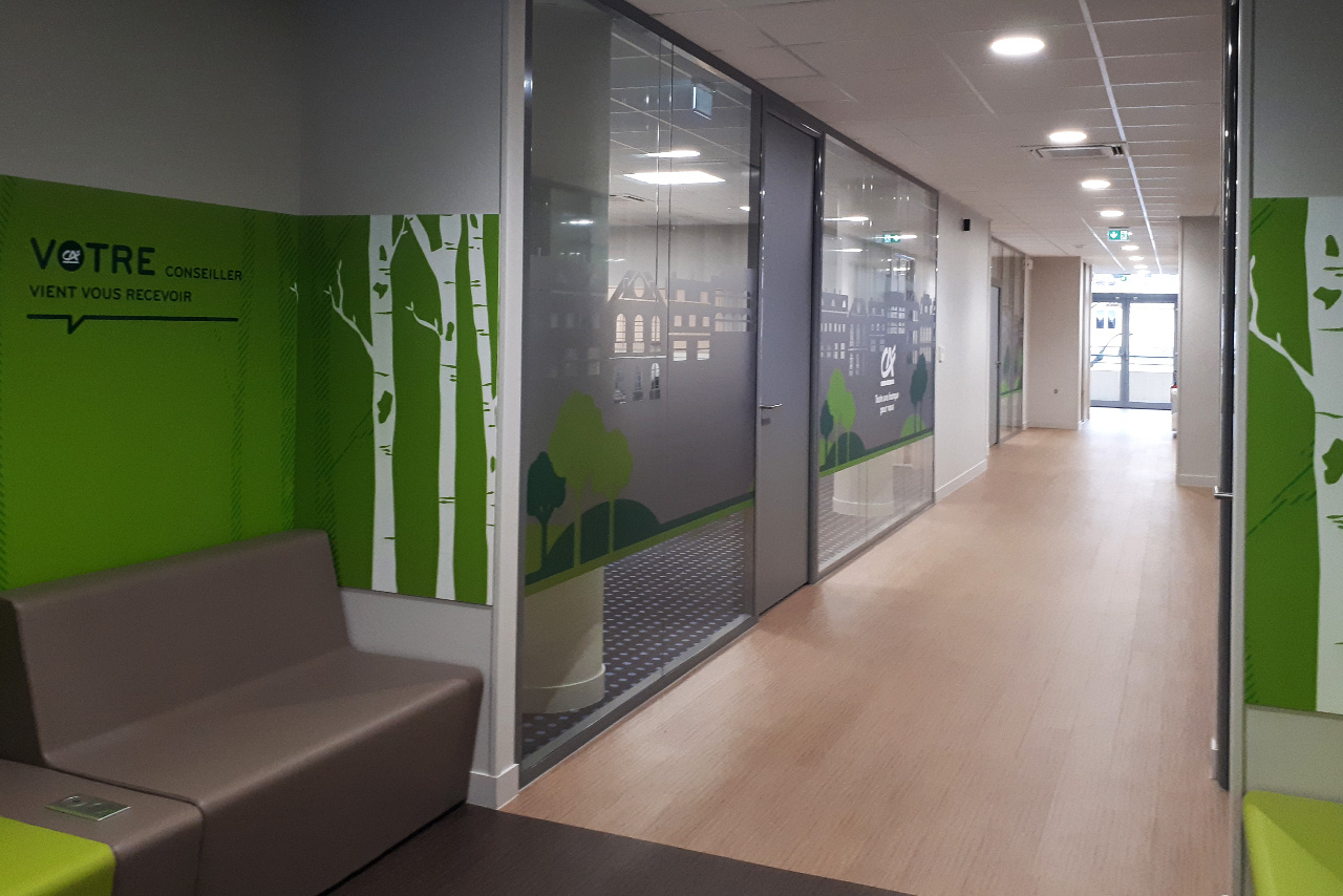 Amenagement harmonisation concept store agence credit agricole 2